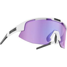 Bliz Matrix M12 Lunettes, matt white /brown with purple multi